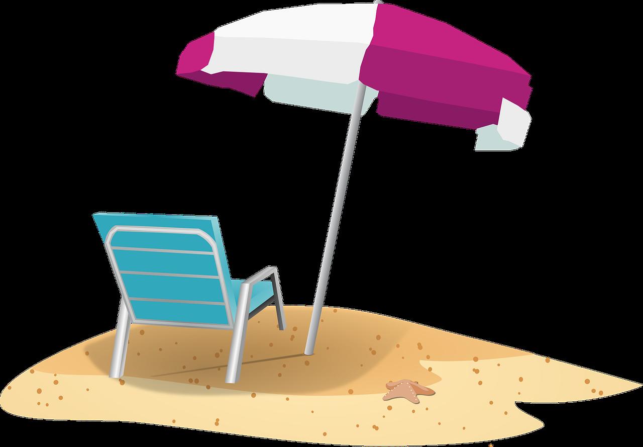 Beach Sand Deck Chair Parasol  - mvezokaramchandhay / Pixabay